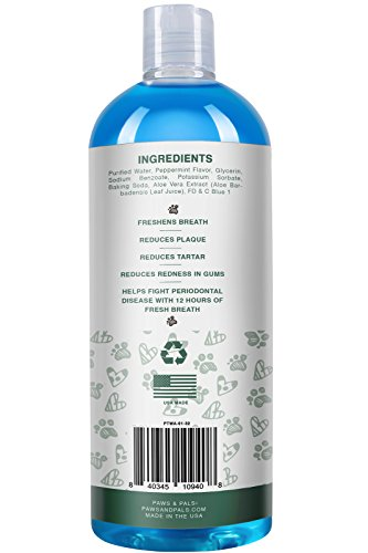 Pet Dog Breath Freshener Water Additive Mouthwash for Fresh Teeth Cleaning Plaque Tartar Remover Cat Oral Dental Care | New Formula 2017