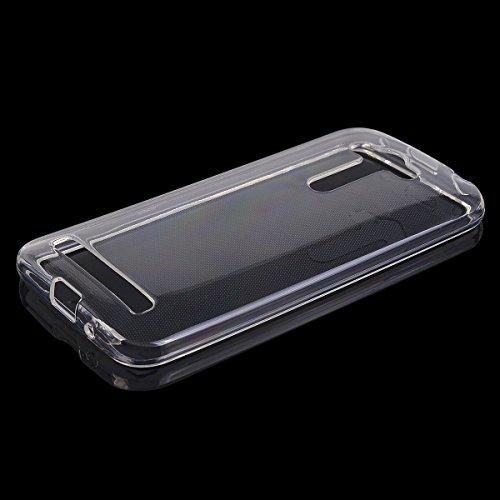 COOLKE transparentee Soft Silicone Cover Clear Case Funda Protectora Carcasa Blanda Caso para Asus ZenFone Go ZB452KG (4.5) - transparente