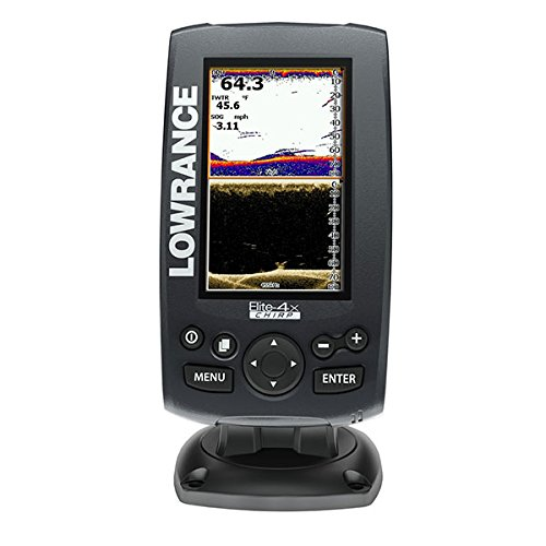 Lowrance 000-11807-001 Elite-4X Sonar Fishfinder with 83/200KHz CHIRP and 455/800KHz DownScan Imaging Transducer