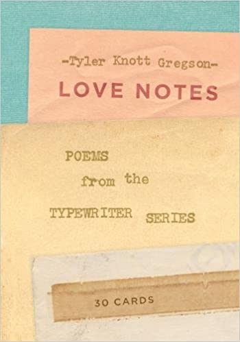 love notes 30 cards postcard book poems from the typewriter series