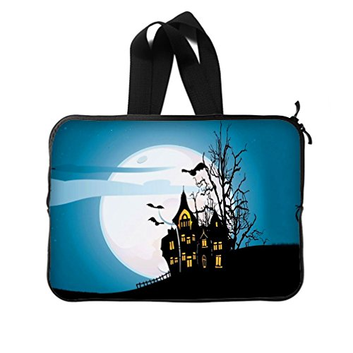 [JIUDUIDODO Custom Cool Halloween Evil Jack with Bat Neoprene Laptop Sleeve 10