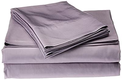 Nine Space Viscose from Bamboo Solid Sheet Set, Lavender, King