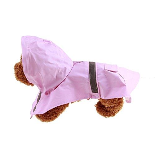 Dog Raincoats Coats - Sunward Fashion Waterproof Dog Raincoat Outdoor Hooded Rain Coat for Dogs (XS, Pink)
