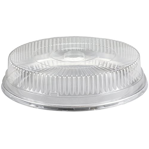Containers Lid Dome (Simply Deliver 16-inch Embossed Aluminum Flat Tray and Dome Lid Set, 25-Count)