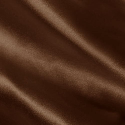 (Shannon Fabrics Silky Satin Charmeuse Solid Fabric, Chocolate, Fabric by the yard)