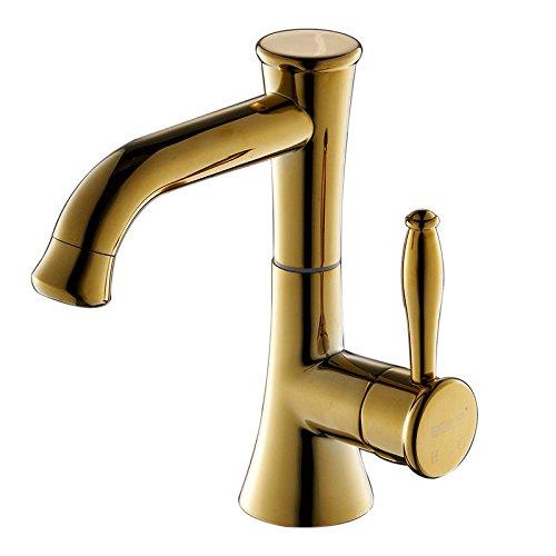 AQiMM Waschbecken Wasserhahn Bad Armatur Edelstahl Erkältung  Waschtischarmatur Badezimmer Waschbeckenamatur