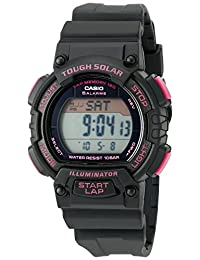 Casio Women's Solar Runner Digital Display Quartz Black Watch (Model:STL-S300H-1CCF)