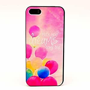 GJYDreams Come True with Balloon Pattern Hard Case for iPhone 5/5S