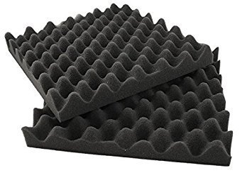 6 Pack Eggcrate Acoustic Foam Sound Proof Foam Panels Nosie Dampening Foam Studio Music Equipment 1.5'' x 12'' x 12'' by IZO All Supply