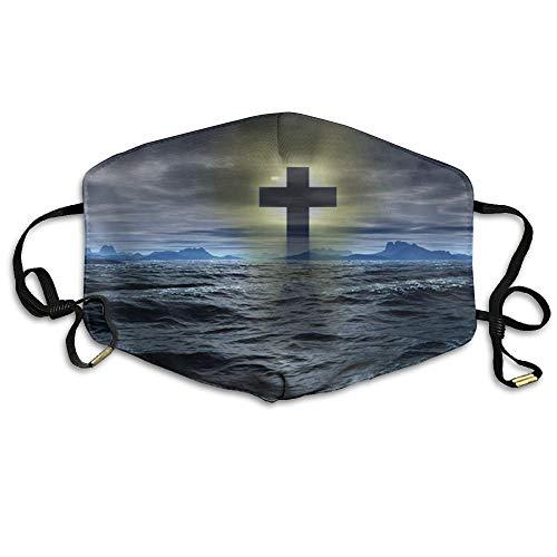(Cross Mark Symbol of Christian Printed Mouth Masks Unisex Anti-dust Masks Reusable Face Mask)