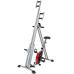 Best Choice Products 2 in 1 Total Body Vertical Climber Magnetic Exercise Bike Machine Black/Gray