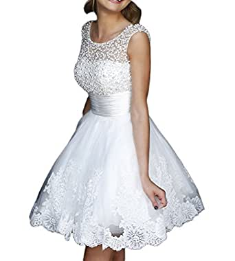 amazon dresses for weddings nyarer white pearl lace wedding dresses ny049 at 1282
