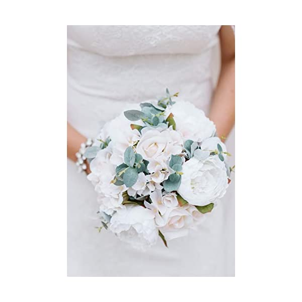 Ivory Silk Rose Hand Tie (24 Roses) – Artificial Bridal Wedding Bouquet