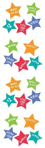 Mrs Grossman Sticker Roll - Full Roll - Mrs. Grossman's Stickers Super Stars w Messages