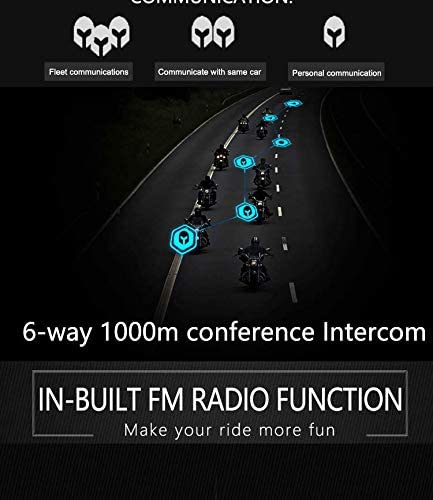 EuroFone Bluetooth Intercom Headset Motorcycle Helmet Interphone 6 Riders Group Intercom Up to 1500M