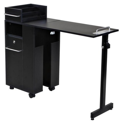Icarus'Exceptional' Black Manicure Nail Table Station