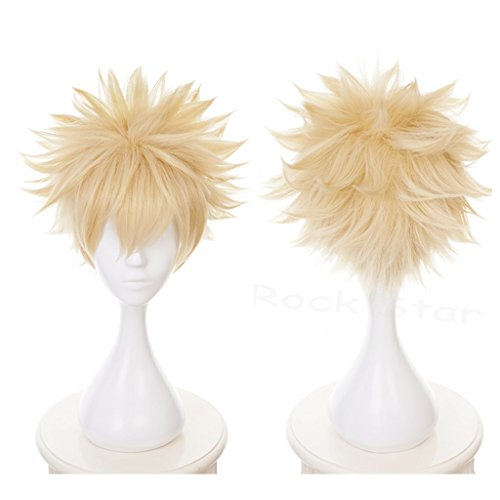 Ani·Lnc Short Yellow Synthetic Cosplay Wigs For Men