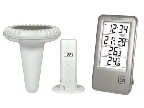 NEDIS Outdoor Pool Thermometer Wireless with Weather Station