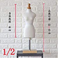 Acturen 1/2 Female Woman Body Mannequin Sewing for Female Clothes,Busto Dresses Form stand1:2 Scale Jersey Bust can pin 1pc C760