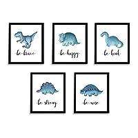 "Dinosaur Prints | Nursery Art | Set of 5 Unframed 8 x 10"" Prints"