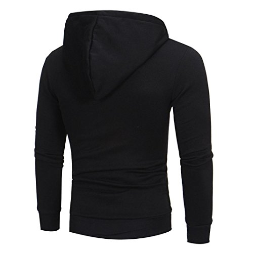 Giacca Multiuso Nero Oliviavan A Fashion Top Stile Cappuccio Traspirante Felpa Uomo Lunghe Da Con Cappotto Outwear felpa Maniche xPAxHF