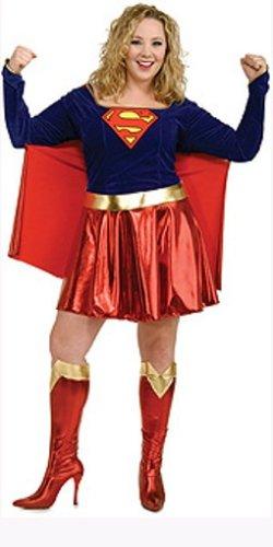 [DC Comics Full Figure Supergirl Costume] (Plus Size Adults Costumes)