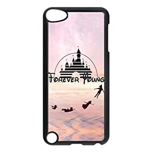 ROBIN YAM Disney Forever Young Slim Hard Snap-On Back Cover Skin Case for New iPod Touch 5th Generation 5G 5 -GRY489