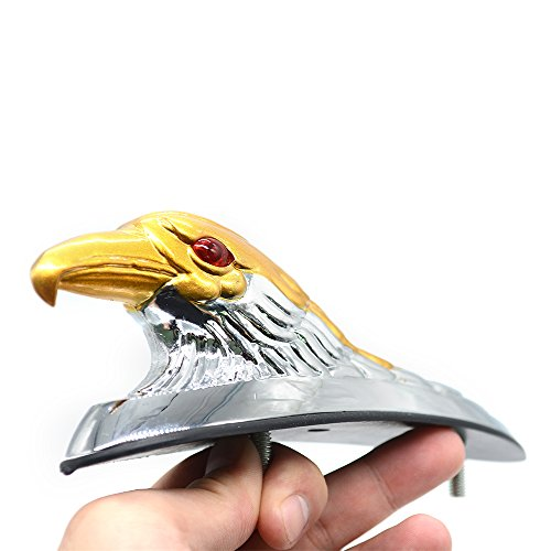 - Universal Eagle Head Ornament Statue Motorcycle Bike Front Fender Mudguard for ATV Dirt Bike Frames & Fittings Car Bonnet (Gold)