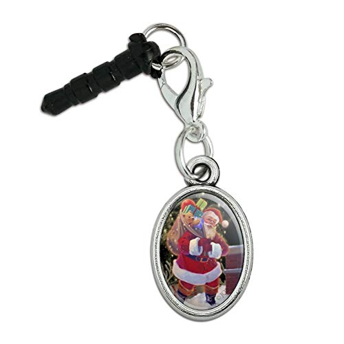 GRAPHICS & MORE Christmas Holiday Santa Chimney Magic Mobile Cell Phone Headphone Jack Anti-Dust Oval Charm fits iPhone iPod Galaxy ()