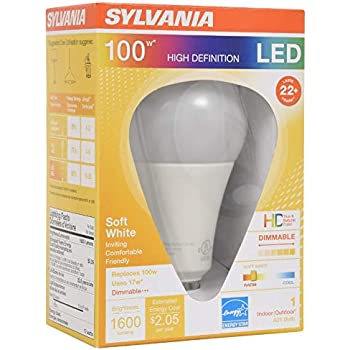 Sylvania Ultra LED 100 Watt Replacement for 17 Watt ...