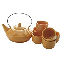 Maxwell & Williams Jozo Japanese Tea Set of 7, Orange