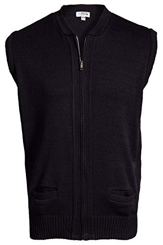 (Edwards Full-Zip Heavyweight Acrylic Sweater Vest Medium)