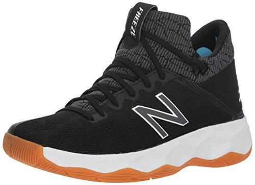 New Balance Men's Freeze V2 Box Agility Lacrosse Shoe, Black/Grey, 8.5 D US