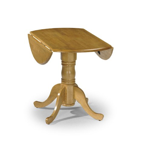 Julian Bowen Dundee Drop Leaf Dining Table, Ruberwood, Honey Pine Finish