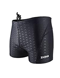 ZIONOR Mens Swim Jammer Compression Swimsuit Shorts - Chlorine Resistant Quick Dry Swimming Briefs Tights