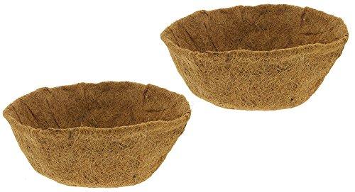 Bundle of 2 Border Concepts Coconut Fiber Hanging Basket Replacement Liners (14