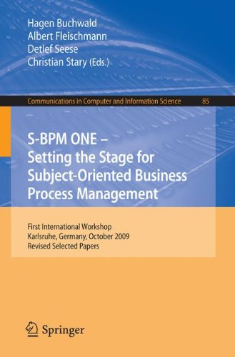 [PDF] S-BPM ONE: Setting the Stage for Subject-Oriented Business Process Management Free Download | Publisher : Springer | Category : Computers & Internet | ISBN 10 : 3642159141 | ISBN 13 : 9783642159145