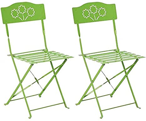 Silla plegable Diana () Juego de 2, color verde: Amazon.es ...