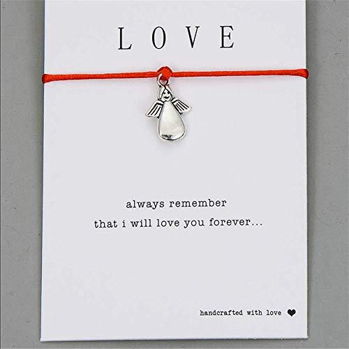 YASEF Bracelet Angel Leaf Heart Crown Charm Wish Bracelet Red String Bracelets for Women Men Kids Lovers Couple Jewelry Gift