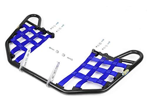 Yamaha YFZ450 YFZ 450 Nerfbars Atv Nerf Bars Black Bars/Blue Nets