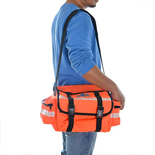 (Dealmed First Responder Trauma Bag (Orange - Fully Stocked))