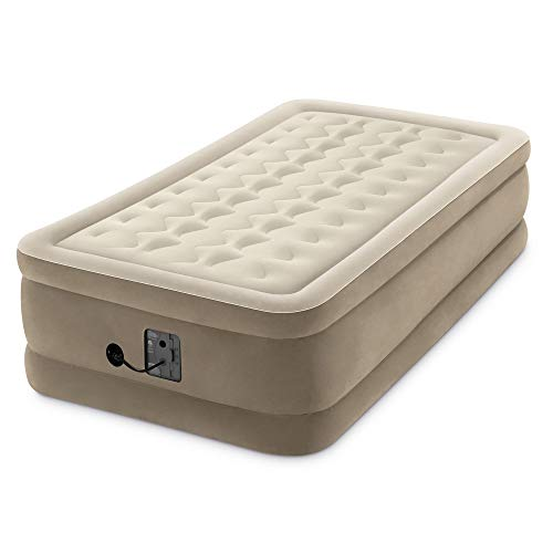 Intex Dura Beam 18 Inch Inflatable Airbed Mattress with Internal Pump, Twin