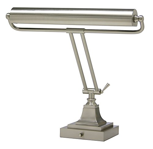 House of Troy P15-83-52 16-Inch Portable Desk/Piano Lamp, Satin Nickel Finish (Brass Piano Finish Lamp)