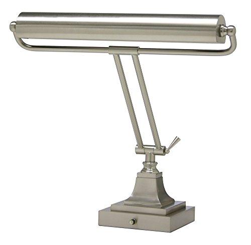 House of Troy P15-83-52 16-Inch Portable Desk/Piano Lamp, Satin Nickel Finish (Finish Lamp Piano Brass)