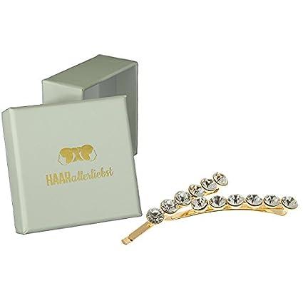 nouveau design nouveau produit artisanat exquis 2 Pinces à cheveux Barrettes à cheveux doré avec strass dans ...