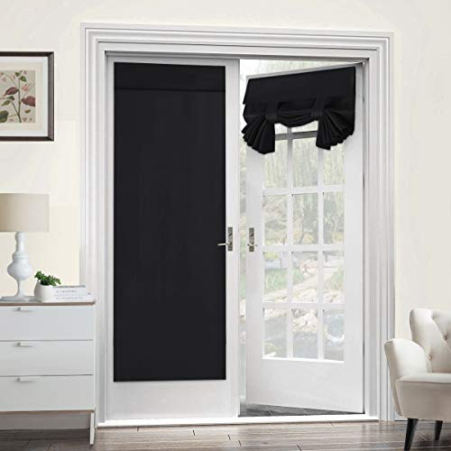 Blackout Curtain for French Doors - Thermal Insulated Blackout Glass Door Curtain Panel Tricia Curtain for Door Window Curtains, Single Panel, 26 x 68 Inches, ()