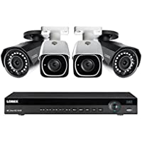 Lorex 8 channel NR9082 4K home security system with 2 8MP 4K LNB8111B Bullet Cameras and 2 4MP 2K LNB4421B Bullet Cameras
