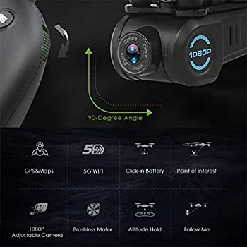 LSQR Point of Interesting GPS Positioning Drone 1080P HD 5GWIFI Adjustable Camera FPV 2.4G RC Drone One Key Return Quadcopter