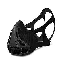 Workout Mask 4 Level Altitude Simulating Mens Oxygen Control Training for Breathing Running, Jogging (Black)