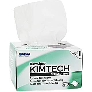 Kimwipes Delicate Task Kimtech Science Wipers (34155), White, 1-PLY, 60 Pop-Up Boxes / Case, 280 Sheets / Box, 16,800 Sheets / Case